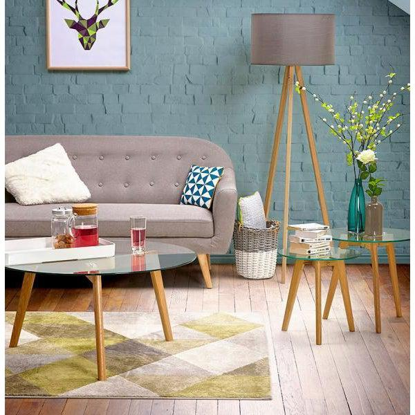 Vello Geometric Rug Green-I Love Retro