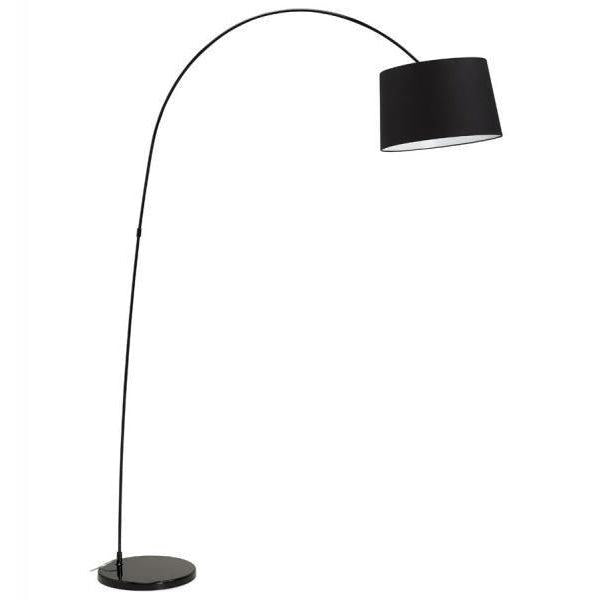 Grover Curved Arm Round Shade Floor Lamp-I Love Retro
