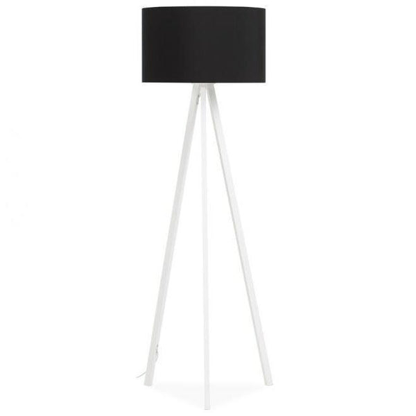 Vetell White Tripod Round Shade Floor Lamp-I Love Retro