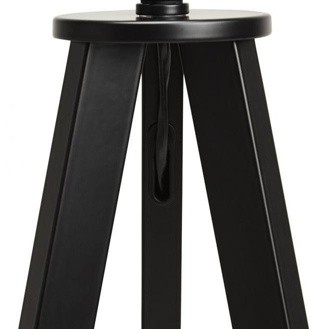 Vetell Black Tripod Round Shade Floor Lamp-I Love Retro