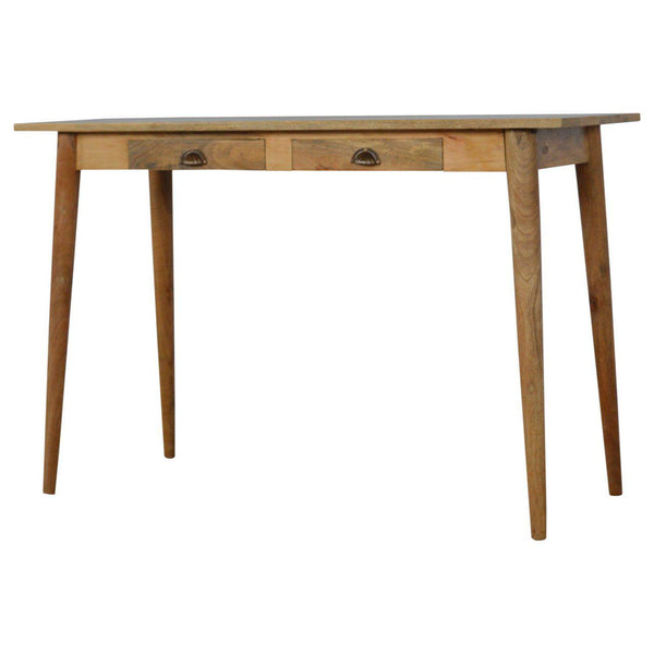 Holm Two Drawer Nordic Writing Desk-I Love Retro