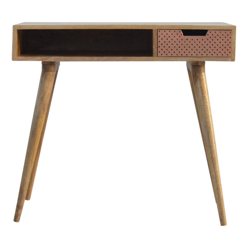 Penelope Copper Drawer Writing Desk-I Love Retro