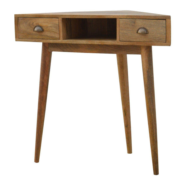 Kamen Double Drawer Corner Writing Desk-I Love Retro