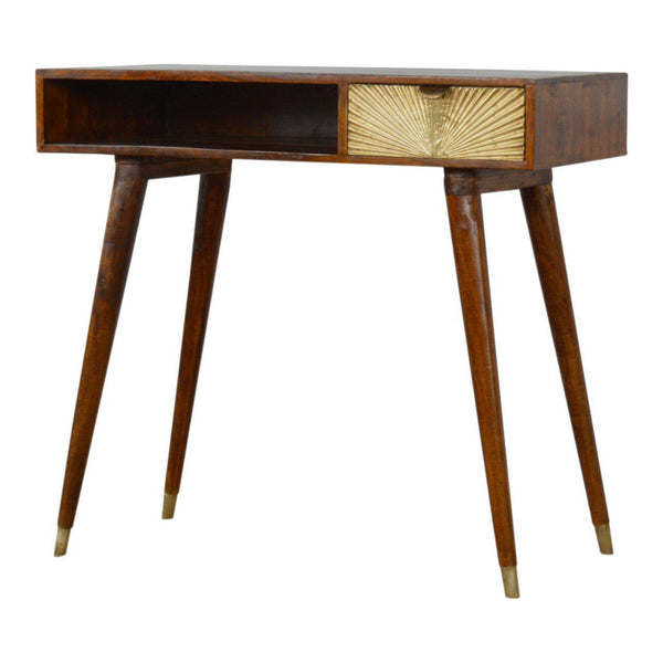 Risen Gold Burst Drawer Writing Desk-I Love Retro