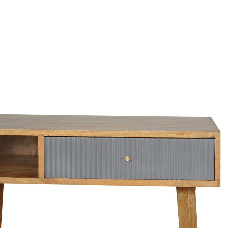 Skipter Grey Line Drawer Writing Desk-I Love Retro