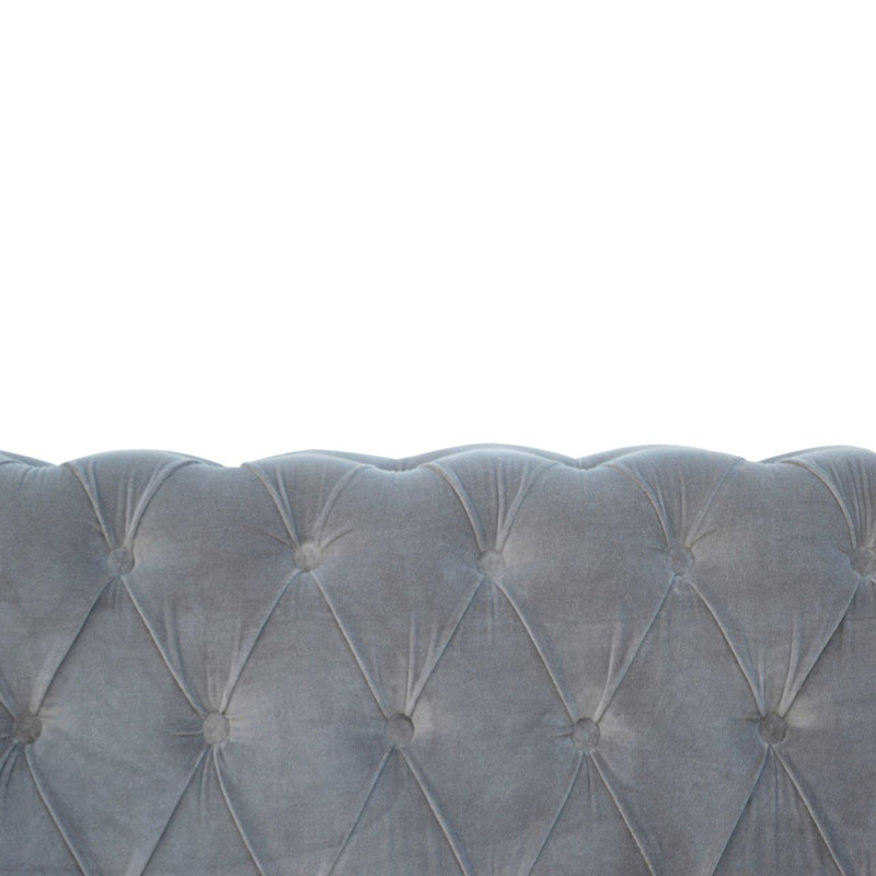 Madeleine Grey Velvet Chesterfield Sofa-I Love Retro
