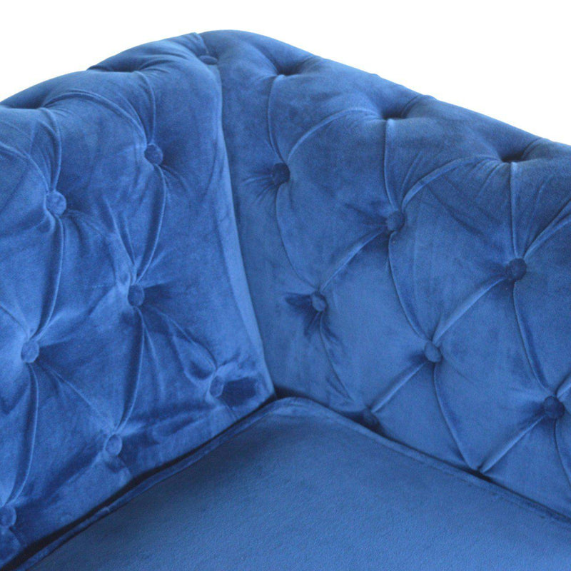 Madeleine Blue Velvet Chesterfield Sofa-I Love Retro