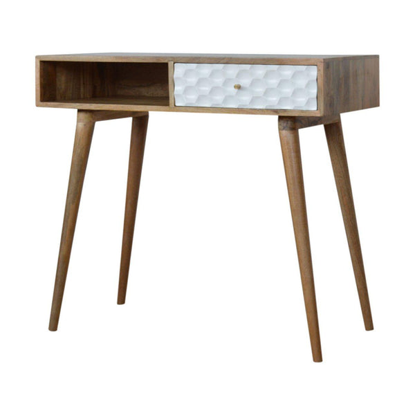 Loki White Drawer Nordic Writing Desk-I Love Retro