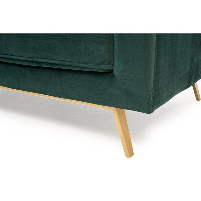 Welma Velvet Mid Century Three Seater Sofa-I Love Retro