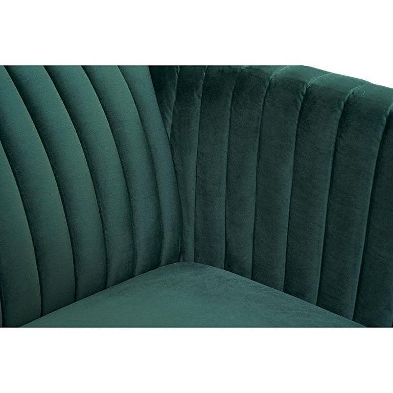 Welma Velvet Mid Century Two Seater Sofa-I Love Retro