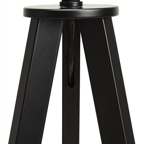 Vetell Black Tripod Round Shade Table Lamp-I Love Retro