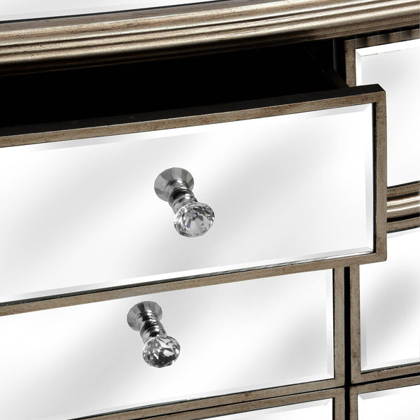 Altinum Venetian Mirrored Six Chest of Drawers-I Love Retro