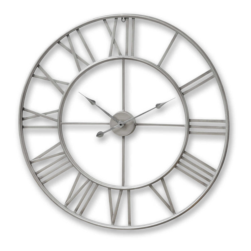 Arial Round Skeleton Wall Clock-I Love Retro