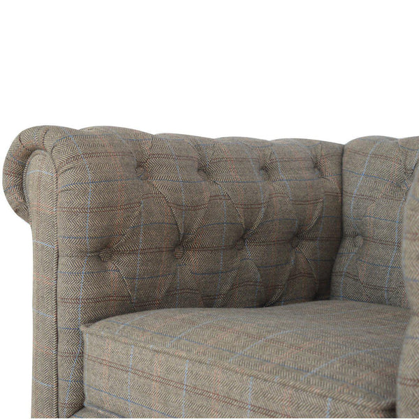 Madeleine Mixed Tweed Chesterfield Armchair-I Love Retro