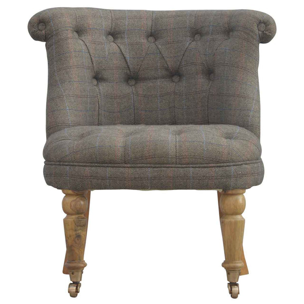 Madeleine Mixed Tweed Dressing Table Chair-I Love Retro