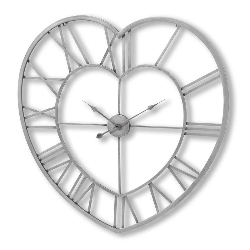 Arial Heart Skeleton Wall Clock-I Love Retro