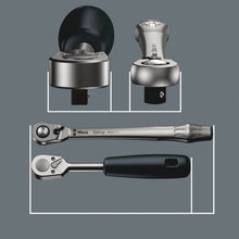 "Load image into Gallery viewer, WERA 8100 SA 8 Zyklop Metal Ratchet Set, with switch lever, 1/4"" drive, metric"