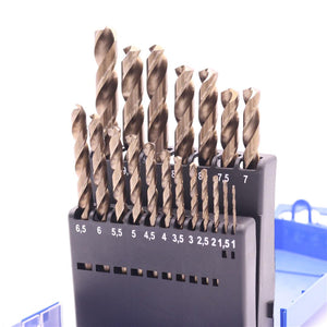 TWIST DRILL BIT SET FOR STAINLESS STEEL 19PCS