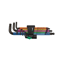 Load image into Gallery viewer, WERA 950/9 Hex-Plus Multicolour 1, L-key set, metric, BlackLaser