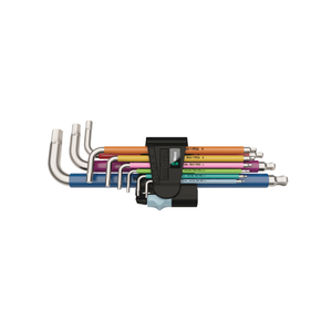 WERA 3950/9 Hex-Plus Multicolour Stainless 1, L-key set, metric, stainless