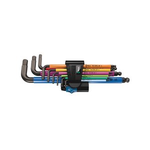 WERA 950/9 Hex-Plus Multicolour HF 1, L-key set with holding function, BlackLaser