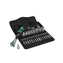 "Load image into Gallery viewer, WERA 8100 SA 6 Zyklop Speed Ratchet Set, 1/4"" drive, metric"