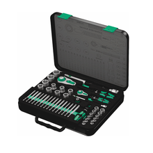 "Load image into Gallery viewer, WERA 8100 SA/SC 2 Zyklop Speed Ratchet Set, 1/4"" drive and 1/2"" drive, metric"