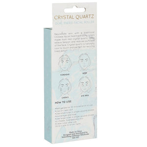 Clear Quartz Crystal Face roller