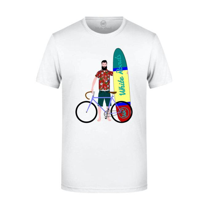 t-shirt white roads m_surf