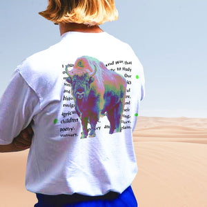 Open image in slideshow, The Land Between The Seas Politics & BullSh*T T-Shirt with John Adams quote and American Bisonon top of quote