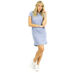 Grey Terry SweatShirt Shirt Dress