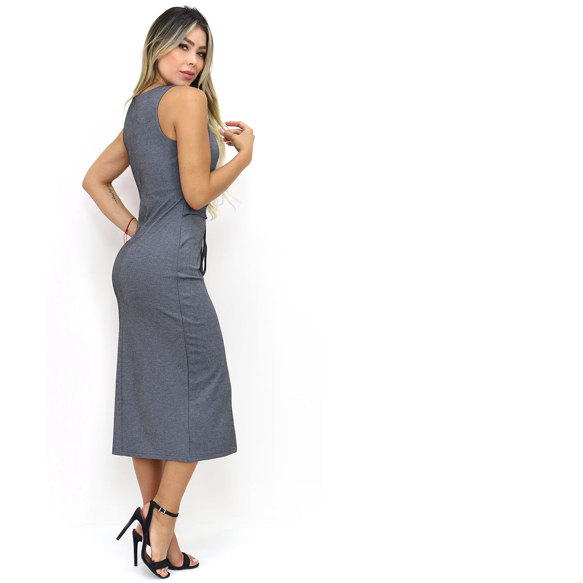 Sexy Slimming Bodycon Corset Midi Dress