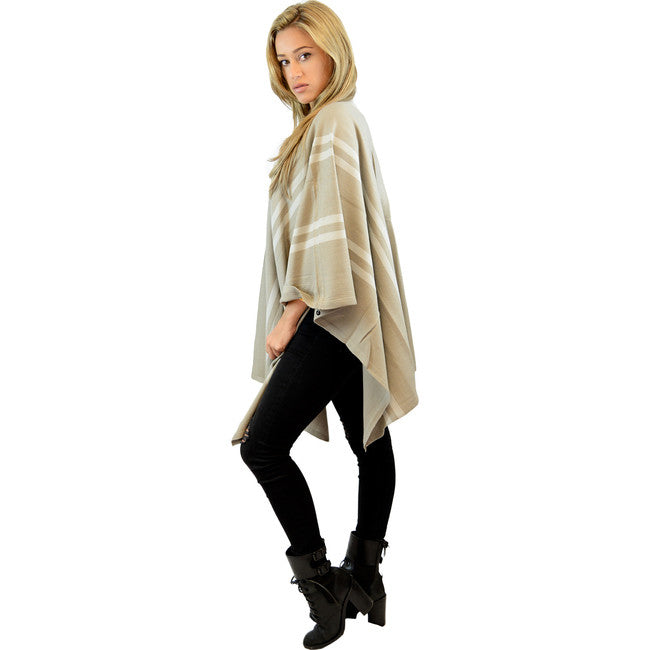 Grey tones Stripes Poncho