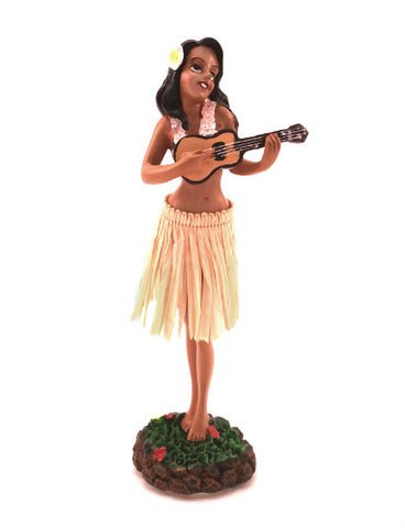 Ukulele Girl Dashboard Doll