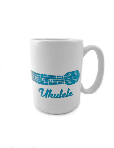 Teal Ukulele Mug (Wrap Around)