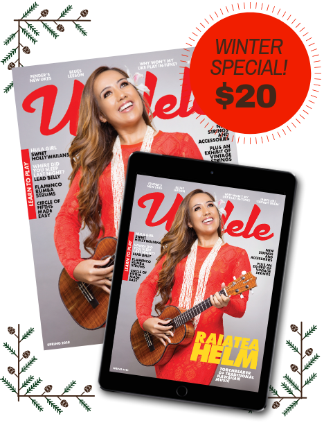 Ukulele Magazine Winter Subscription Sale