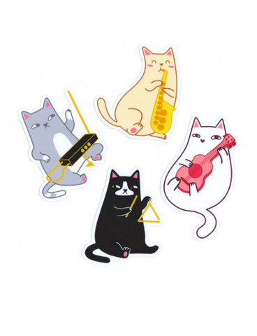 Cat Band Sticker Set