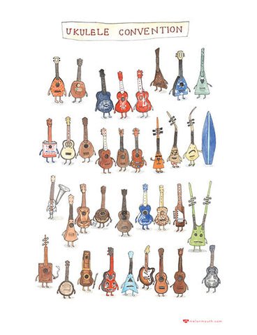 'Ukulele Convention' Tea Towel