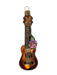 Ukulele Glass Ornament