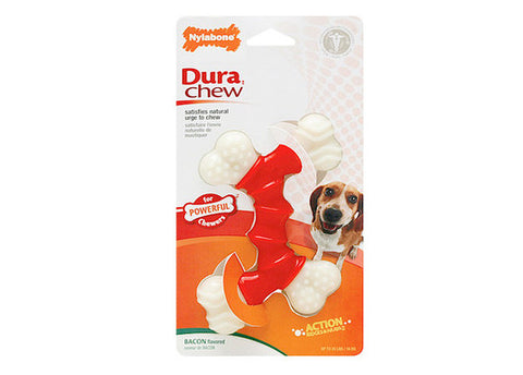 Nylabone Double Bone - Bacon Flavor