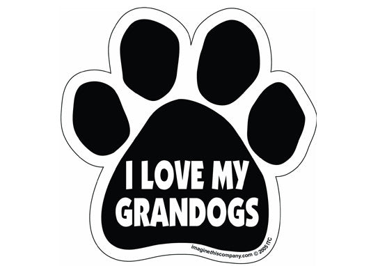 I Love My Grandogs Magnet