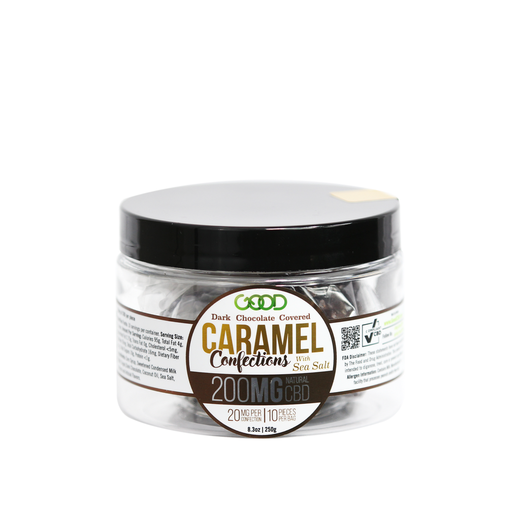 CBD Dark Chocolate Covered Caramel - Good CBD Online Store