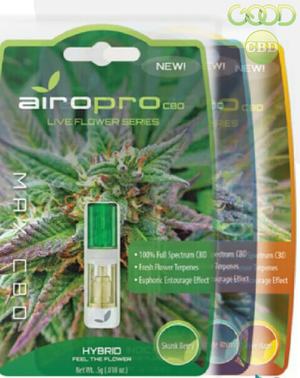 AiroPro Live Flower Cartridges are available at GoodCBD.com.  We specialize in delta 8 carts, delta 8 gummies, delta 8 oil, and delta 8 flower.  Our website carries brands such as: 3CHI, Good CBD, Urb, Injoy Extracts, AiroPro, Delta Effex, and more.  Free shipping on orders $50.00 or more.