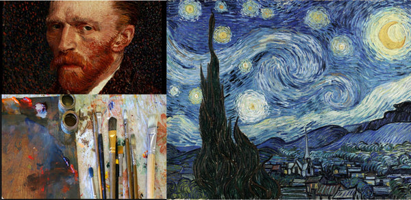 Renowned painter Vincent Van Gogh and his Starry Night painting