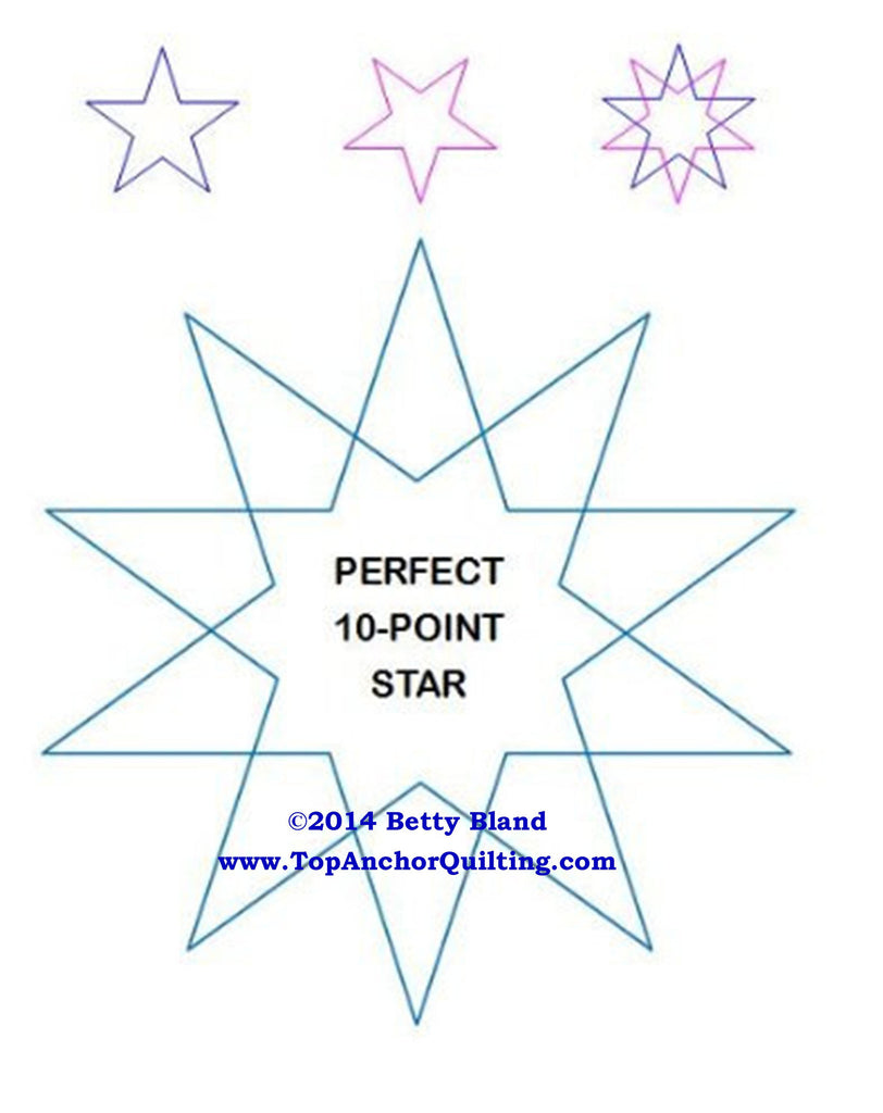 photo relating to Free Printable Machine Quilting Designs called Star Quilting Templates Styles TopAnchor Quilting Resources