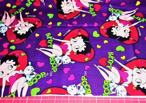 "Fabric - Betty Boop & Pudgy Cartoon Print 25"" x 44"""
