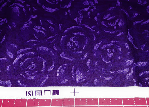 "Fabric - Purple Roses Print 18"" x 42"""