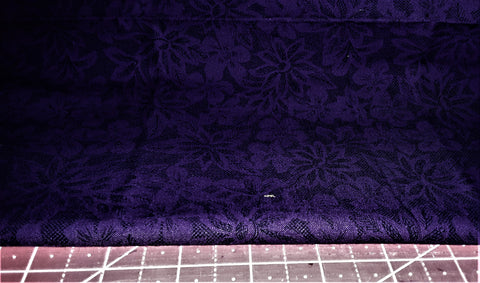 "Fabric - Dark Purple Blender Floral Print 28"" x 39"""