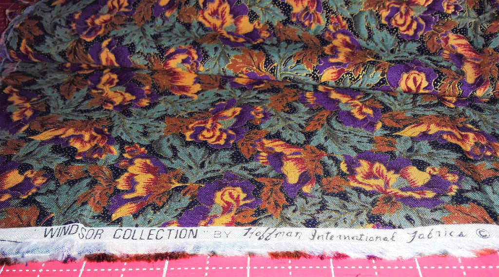 "Fabric - Fall Flowers & Leaves Print 11"" x 42"""
