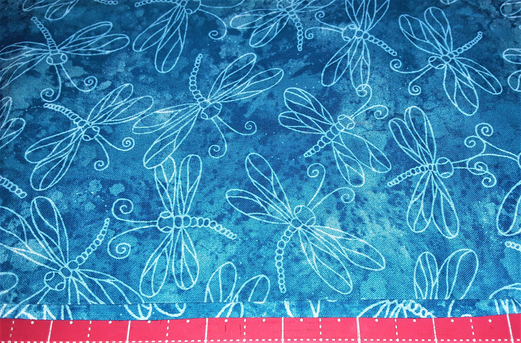 "Fabric - Dragonfly outline print 24"" x 45"""